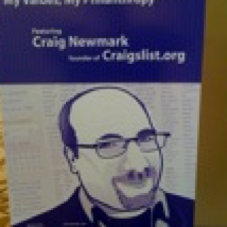 Poster of Craig Newmark talk
